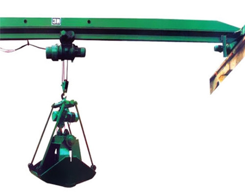 Single girder crane with grab for sale